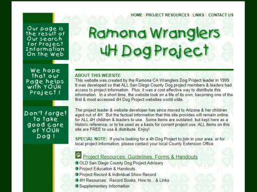 Ramona Wranglers 4H Dog Project