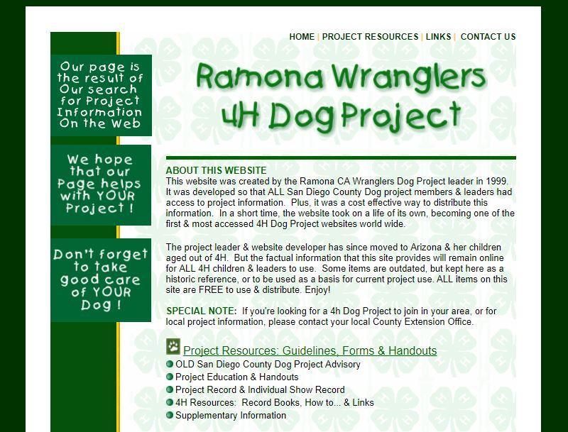 Ramona Wranglers 4H Dog Project